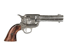Colt .45 Replica Isolated. Colt.45 on a white background Stock Photography