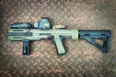 Colt 1911A1 air soft gun with HERA ARMS conversion kit Royalty Free Stock Photos
