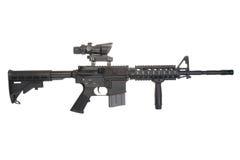 Colt M4A1 lokalisiert auf einem weißen Hintergrund Lizenzfreie Stockfotos