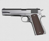 Colt M1911 pistol vector isolated on background Royalty Free Stock Photography