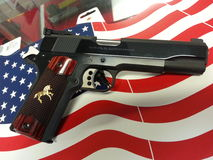 Colt 1911 National Royal Match Pistol Royalty Free Stock Images