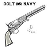 Colt Navi Revolver stock abbildung