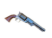 Colt Navy revolver. Antique Colt 1851 Navy revolver on a white background Stock Images