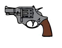 Colt Revolver Stock Image