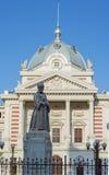 Coltea Hospital with statue of Mihai Cantacuzino i Stock Photography