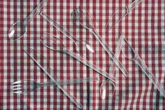 Coltelleria di plastica Fotografia Stock Libera da Diritti