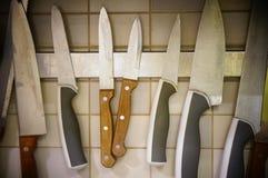 Coltelli da cucina Immagine Stock