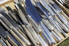 Coltelli della Tabella in grande quantità Fotografie Stock Libere da Diritti