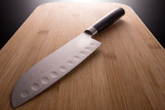 Coltello da cucina giapponese Fotografia Stock