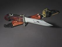 Coltello della baionetta di AKM Fotografia Stock