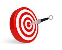 Coltello ed obiettivo di lancio Fotografie Stock
