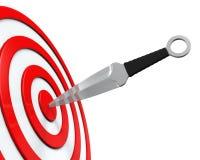 Coltello ed obiettivo di lancio Immagini Stock