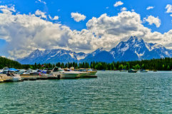 Colter Bay Marina on Jenny Lake Stock Photo