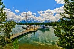 Colter Bay Marina On Jenny Lake Royalty Free Stock Images
