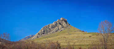 Coltesti Castle panorama. Panoramic image of the Costesti Castle, Romania Royalty Free Stock Images