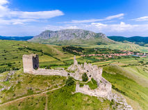 Coltesti medieval fortress near Coltesti village, in Apuseni Tra Royalty Free Stock Image