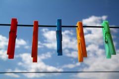 Colthespin nel cielo Fotografia Stock Libera da Diritti