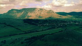 Coltii Trascaului山在罗马尼亚 免版税库存照片
