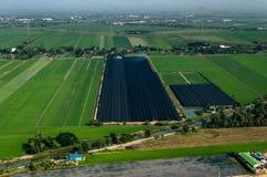 Coltivando, fotografia aerea di agricoltura in Tailandia Fotografia Stock Libera da Diritti