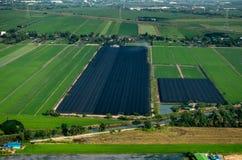 Coltivando, fotografia aerea di agricoltura in Tailandia Immagini Stock