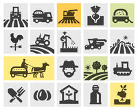 Coltivando le icone messe Illustrazione di vettore Fotografie Stock