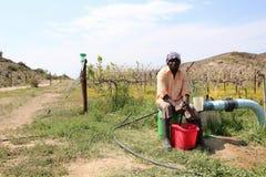 Coltivatore africano Fotografia Stock