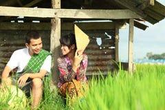 Coltivatore asiatico Fotografia Stock
