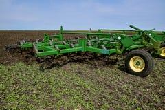 Coltivatore del campo di John Deere Fotografia Stock