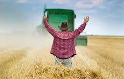 Coltivatore soddisfatto Fotografie Stock