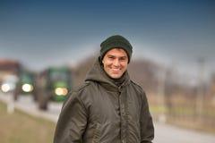 Coltivatore sorridente Fotografia Stock