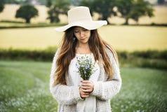 Coltivi il concetto stagionale della crescita della natura del giardino fotografia stock libera da diritti