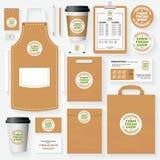 Coltivi il modello fresco di identità corporativa del negozio per il segno organico di uso Fotografia Stock