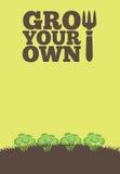 Coltivi il vostro proprio poster_Brocolli Fotografia Stock