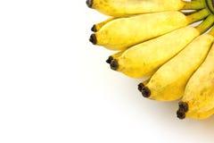 Coltivi la banana su fondo bianco Fotografia Stock Libera da Diritti