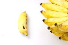 Coltivi la banana su fondo bianco Fotografie Stock Libere da Diritti