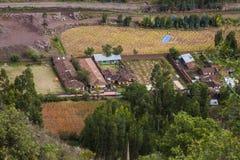 Coltivi nel fiume di Urubamba vally, il Perù Immagini Stock