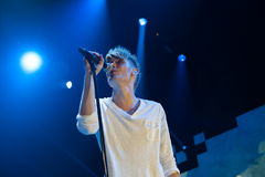 Colton Dixon. Sacramento, CA - July 21: Colton Dixon of American Idol performs in American Idol Live Tour 2012 at Power Balance Pavilion in Sacramento Stock Image