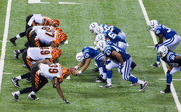 Colts-Bengals football game Royalty Free Stock Photos