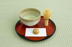 Coltura giapponese del tè Fotografie Stock Libere da Diritti