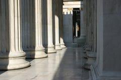 Colum array. Columns in classical building stock photos