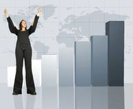 Colum chart - business success Stock Photo