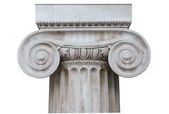 Colum iónico isolado no branco Fotografia de Stock
