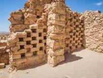 Columbarium antico nella fortezza di Masada, Israele Fotografia Stock
