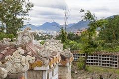 Columbarium - cementerio budista Almacenamiento público de urnas cinerarias foto de archivo libre de regalías