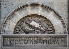 Columbarium in Pere Lachaise-begraafplaats, Parijs Stock Fotografie