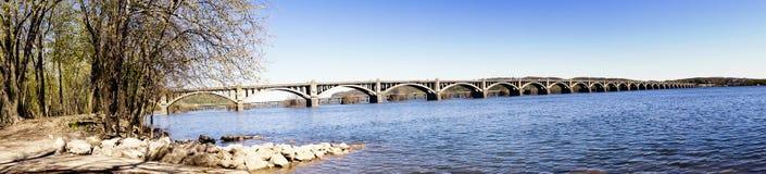 columbia bridżowy wrightsville obraz stock