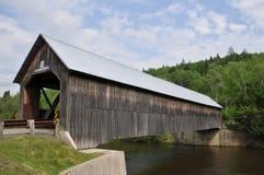 Columbia Bridge. Spans the Connecticut River between Columbia, New Hampshire, and Lemington, Vermont stock photo