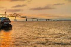 Columbia Bridge Sunset Royalty Free Stock Image