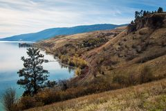 Columbia Británica Canadá de Kelowna del lago Okanagan Fotos de archivo libres de regalías