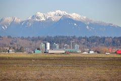 Columbia Británica y montañas del delta fotografía de archivo